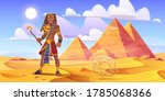 ancient egyptian pharaoh with...   Shutterstock .eps vector #1785068366