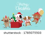 merry christmas and happy new... | Shutterstock .eps vector #1785075503