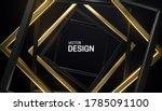 black and golden square frames. ...   Shutterstock .eps vector #1785091100