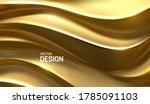 golden waves. curvy pattern....   Shutterstock .eps vector #1785091103