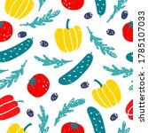 vector seamless pattern with... | Shutterstock .eps vector #1785107033