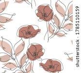 elegant seamless pattern with... | Shutterstock .eps vector #1785110159