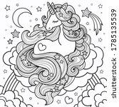 A Beautiful Unicorn With A...