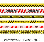 set of isolated danger tape or... | Shutterstock .eps vector #1785137870