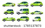 set of isolated eco car or... | Shutterstock .eps vector #1785137873