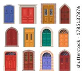 old door vector icon or vintage ... | Shutterstock .eps vector #1785137876