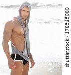 portrait of a handsome muscular ...   Shutterstock . vector #178515080