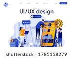 ui ux design flat landing page. ...
