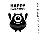 monster silhouette. happy... | Shutterstock .eps vector #1785171050