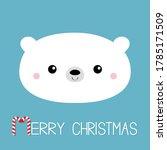 merry christmas. candycane text.... | Shutterstock .eps vector #1785171509