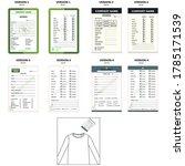 t shirt sample card template ...   Shutterstock .eps vector #1785171539