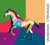 Horse Running In Wpap Style