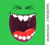 funny cartoon monster face.... | Shutterstock .eps vector #1785183593
