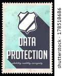 Data Protection Concept On Blue ...