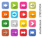 16 arrow icon set 02  white...