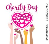 international charity day hands ...   Shutterstock .eps vector #1785206750