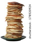 Pile Of Pancakes Isolated On A...