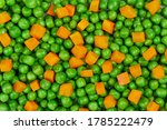 Green Peas And Carrots Fresh...