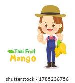 thai farmer have mango thai...   Shutterstock .eps vector #1785236756