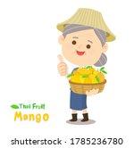 thai farmer have mango thai...   Shutterstock .eps vector #1785236780