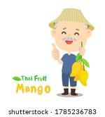 thai farmer have mango thai...   Shutterstock .eps vector #1785236783