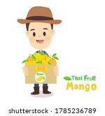 thai farmer have mango thai...   Shutterstock .eps vector #1785236789