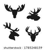 elk moose and deer silhouettes  ... | Shutterstock .eps vector #1785248159