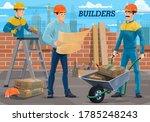 engineer builder workers on...   Shutterstock .eps vector #1785248243