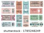 ice hockey admit tickets  sport ... | Shutterstock .eps vector #1785248249