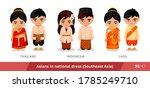 thailand  indonesia  laos. men... | Shutterstock .eps vector #1785249710