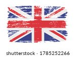 united kingdom flag in grunge... | Shutterstock .eps vector #1785252266