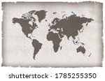 old vintage world map design. | Shutterstock .eps vector #1785255350