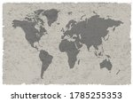 old vintage world map design. | Shutterstock .eps vector #1785255353