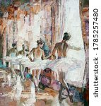 A Group Of Young Ballerinas In...
