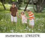 three children playing in nature | Shutterstock . vector #17852578