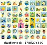 set of people  men and women... | Shutterstock .eps vector #1785276530