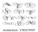 vector swirl flourishes ink pen ...   Shutterstock .eps vector #1785279959