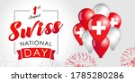 swiss national day vector... | Shutterstock .eps vector #1785280286