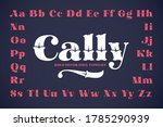 vintage decorative vector font... | Shutterstock .eps vector #1785290939