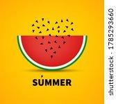 summer sign. hello summer  rot  ... | Shutterstock .eps vector #1785293660