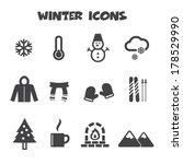 Winter Icons  Mono Vector...