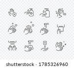 icon set of disease prevention... | Shutterstock .eps vector #1785326960