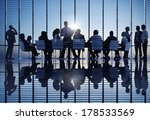 business team meeting at sunset | Shutterstock . vector #178533569