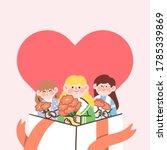 adorable lovely thank you gift...   Shutterstock .eps vector #1785339869