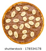 sweet chocolate pizza with... | Shutterstock . vector #178534178