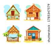 beach hut or island resort... | Shutterstock .eps vector #1785347579