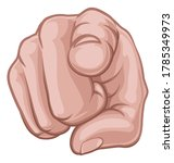 a hand pointing a finger at the ...   Shutterstock . vector #1785349973