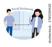 flat illustration of social... | Shutterstock .eps vector #1785350420