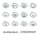 cloud server and storage vector ... | Shutterstock .eps vector #1785359429