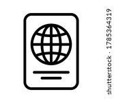 passport outline icon on...